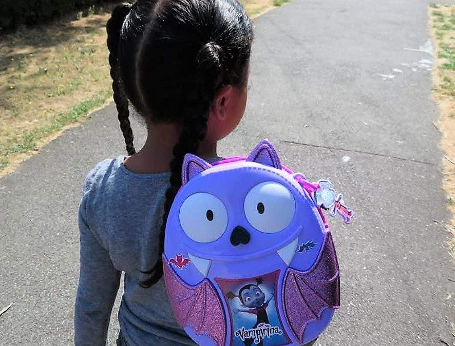 Getting Batty about Back to School with Vampirina's Bootastic Backpack Set : review